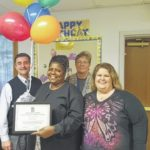 Wilson recognized as Employee of Quarter at Whitten Center