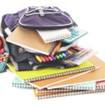 The Observer collecting school supplies