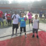 Youths compete for Punt, Pass and Kick