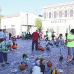 Pumpkin painting party in downtown Newberry